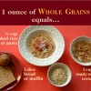 Whole Grain Equivalents with a number of foods displayed