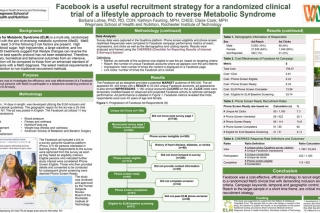 Recruiting with Facebook for randomized clinical trial